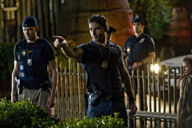 Eric Bana and Joel McHalestar in scene from movie 'Deliver Us From Evil'